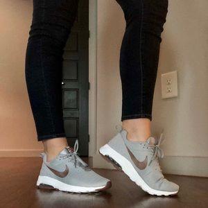 Grey and maroon Nike Air Sneakers